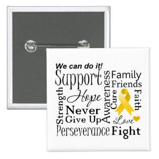 Neuroblastoma Cancer Supportive Words Pinback Button