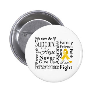 Neuroblastoma Cancer Supportive Words Pinback Buttons