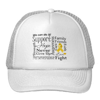 Neuroblastoma Cancer Supportive Words Hats