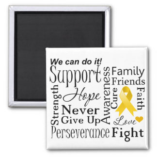 Neuroblastoma Cancer Supportive Words Magnet