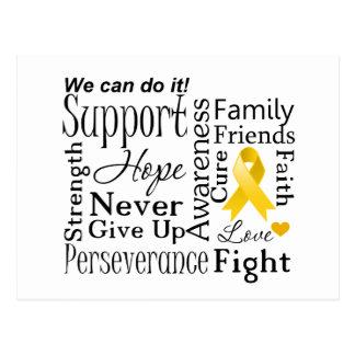 Neuroblastoma Cancer Supportive Words Postcard
