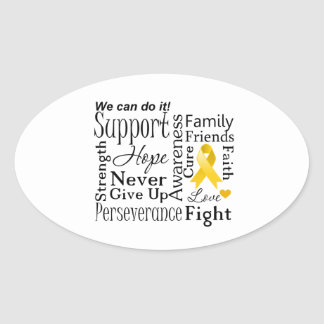 Neuroblastoma Cancer Supportive Words Stickers