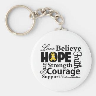 Neuroblastoma Collage of Hope Basic Round Button Key Ring