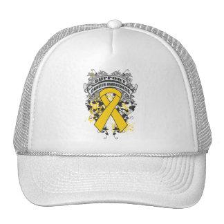 Neuroblastoma - Cool Support Awareness Slogan Mesh Hat