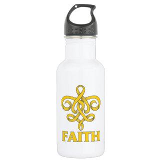 Neuroblastoma Faith Fleur de Lis Ribbon 532 Ml Water Bottle