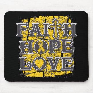Neuroblastoma Faith Hope Love Mouse Pad