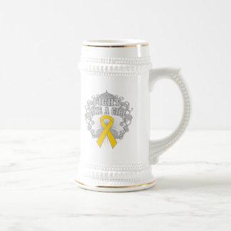 Neuroblastoma Fight Like A Girl Fleurish Coffee Mugs