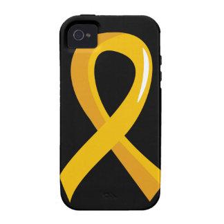 Neuroblastoma Gold Ribbon 3 iPhone 4 Cover