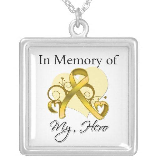 Neuroblastoma - In Memory of My Hero Necklaces