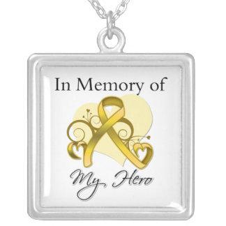 Neuroblastoma - In Memory of My Hero Square Pendant Necklace