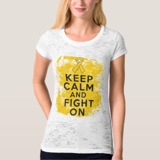 Neuroblastoma Keep Calm and Fight On.png Tee Shirts