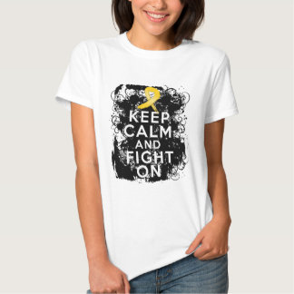 Neuroblastoma Keep Calm and Fight On T-shirt