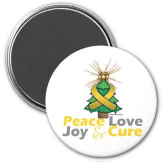 Neuroblastoma Peace Love Joy Cure Magnet