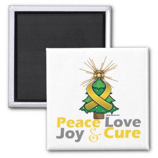 Neuroblastoma Peace Love Joy Cure Fridge Magnets