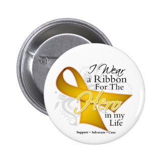 Neuroblastoma Ribbon Hero in My Life 6 Cm Round Badge