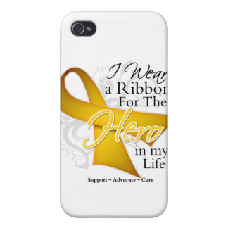 Neuroblastoma Ribbon Hero in My Life Cases For iPhone 4