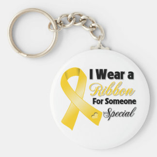 Neuroblastoma Ribbon Someone Special Keychains