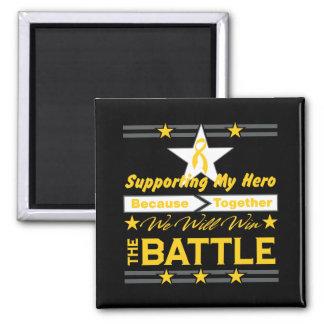 Neuroblastoma Supporting My Hero Fridge Magnet