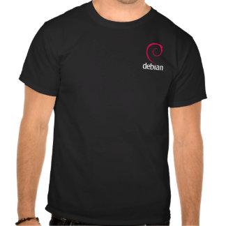 NeuroDebian is Debian (dark) Tee Shirts