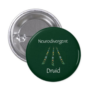 Neurodivergent Druid 3 Cm Round Badge