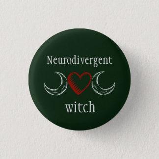 Neurodivergent witch 3 cm round badge