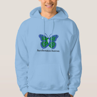 Neurofibromatosis Butterfly Awareness Ribbon Hoodie