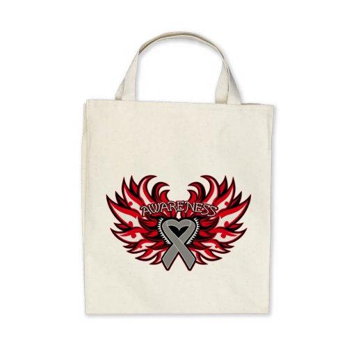 Neurological Disorders Awareness Heart Wings Bags