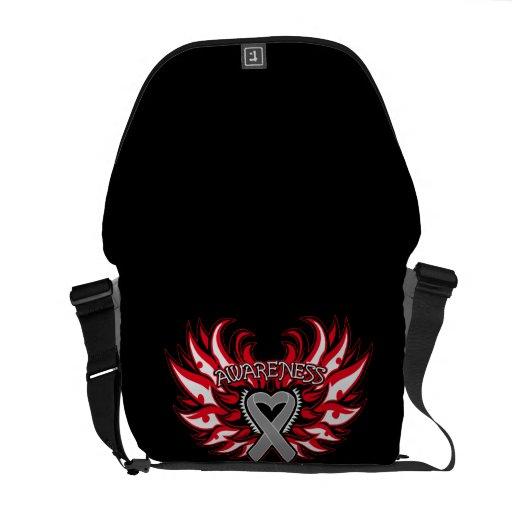 Neurological Disorders Awareness Heart Wings Commuter Bag