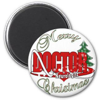 NEUROLOGIST DOCTOR MERRY CHRISTMAS FRIDGE MAGNETS