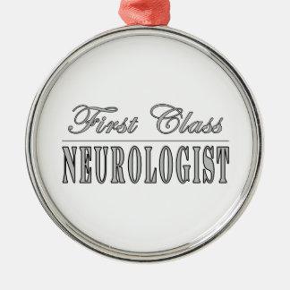 Neurologists & Neurology : First Class Neurologist Silver-Colored Round Decoration