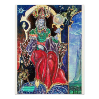 NEUROMANCER , red blue gold metallic, 11 Cm X 14 Cm Invitation Card