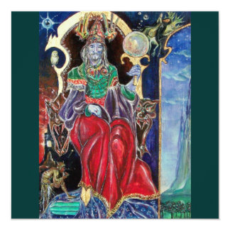 NEUROMANCER , red blue green 13 Cm X 13 Cm Square Invitation Card