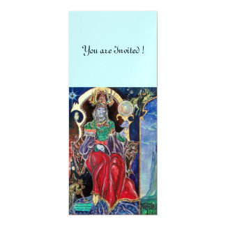 NEUROMANCER , red blue, ice metallic, Personalized Invitation