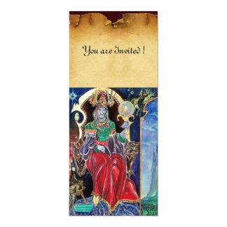 NEUROMANCER , red blue parchment 10 Cm X 24 Cm Invitation Card