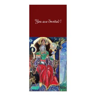 NEUROMANCER , red blue,white 10 Cm X 24 Cm Invitation Card