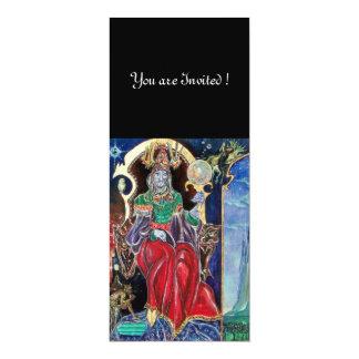 NEUROMANCER , red blue,white black 10 Cm X 24 Cm Invitation Card