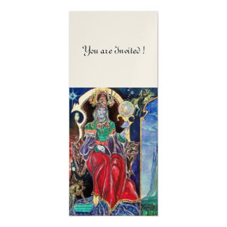 NEUROMANCER , red blue white, gold metallic, 10 Cm X 24 Cm Invitation Card