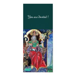NEUROMANCER , red blue,white green 10 Cm X 24 Cm Invitation Card