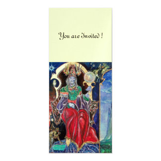 NEUROMANCER , red blue white, ice metallic, 10 Cm X 24 Cm Invitation Card
