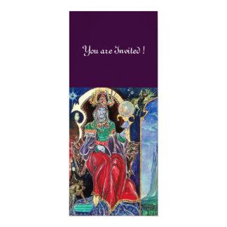 NEUROMANCER , red blue,white purple 10 Cm X 24 Cm Invitation Card