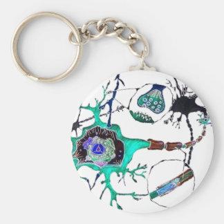 Neuron! Basic Round Button Key Ring