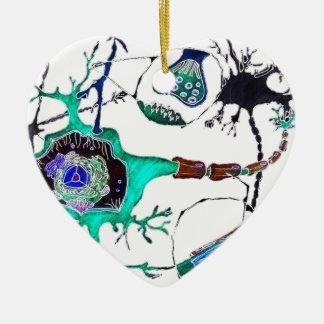 Neuron! Ceramic Heart Decoration