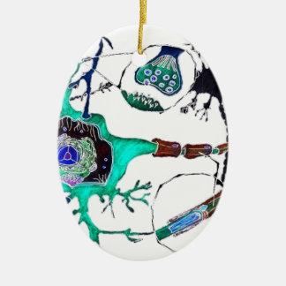 Neuron! Ceramic Oval Decoration