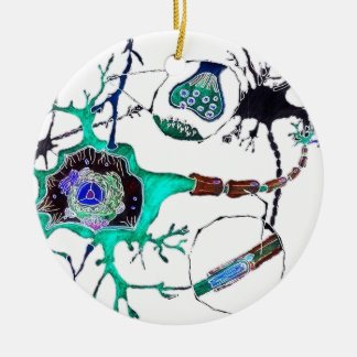 Neuron! Round Ceramic Decoration