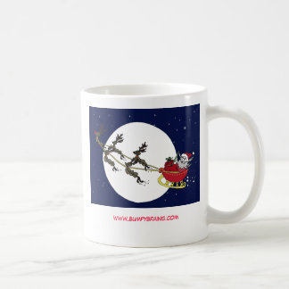 Neuron Santa & his Neuron Reindeer Basic White Mug