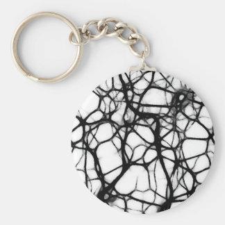 Neuronal Web 1 Basic Round Button Key Ring