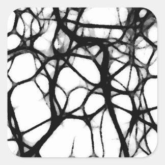Neuronal Web 1 Square Sticker