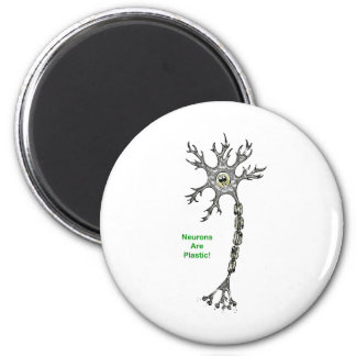 Neurons Are Plastic! 6 Cm Round Magnet