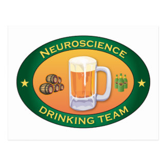 Neuroscience Drinking Team Postcard