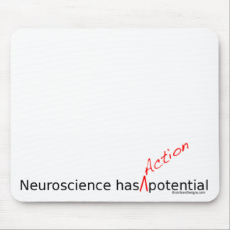 "Neuroscience Has ""Action"" Potential Mousepad"